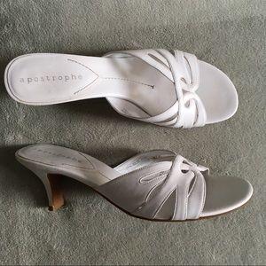 Apostrophe Women's Slip-On Kitten Heel Sandals